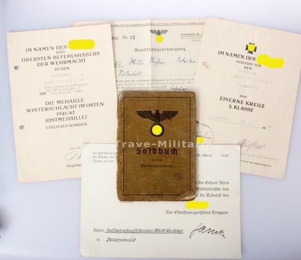 Nachlass Willi Richter - Heeres Küstenartillerie - seltene Einheit