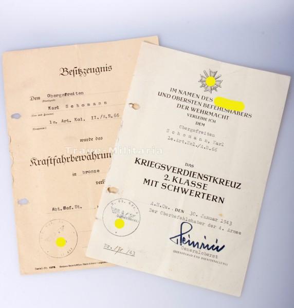Nachlass des Obergefreiten Schomann