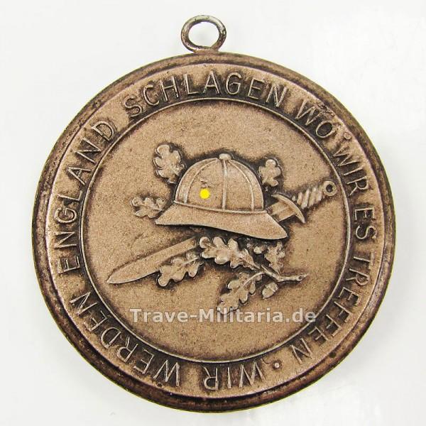 Reservistika Porzellan-Medaille Meissen Afrika-Feldzug