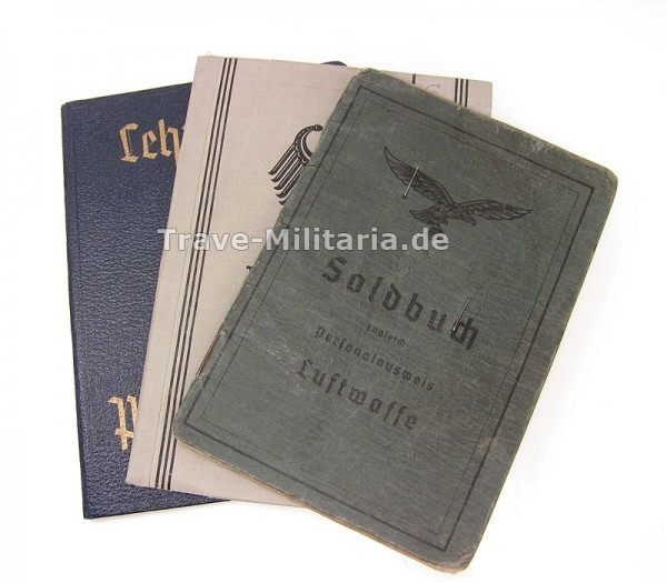 Papiernachlass Soldbuch LW, Wehrpaß BW