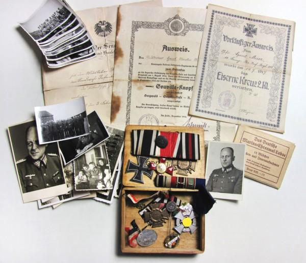 Nachlass eines Soldaten mit dem Souville-Knopf R.I.R 88 - sehr selten!