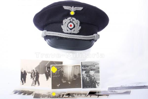 Schirmmütze für Geistliche der Kriegsmarine mit Trägerfotos - extrem selten
