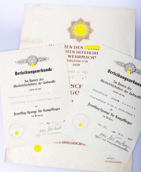 Urkundengruppe Deutsche Kreuz in Gold