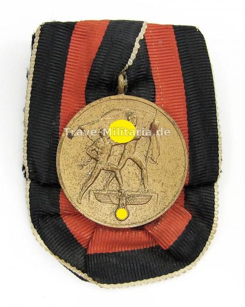 Einzelspange Medaille zur Erinnerung an den 1. Oktober 1938
