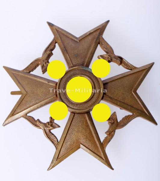 Spanienkreuz in Bronze ohne Schwerter