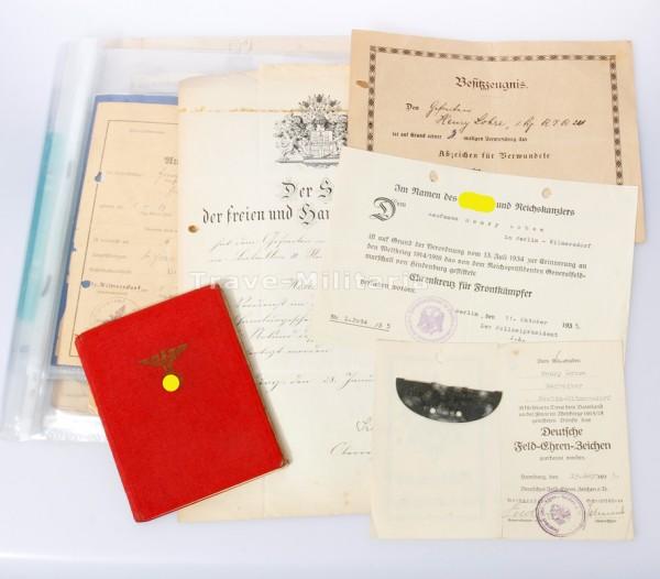 Papiernachlass Hanseatenkreuz und Partei des Henry Lohse