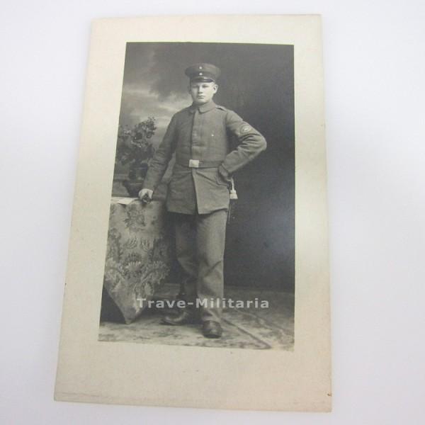 seltenes Foto mit Maschinengewehr Scharfschützen Abzeichen