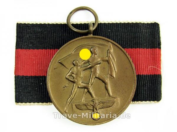 Medaille zur Erinnerung an der 1. Oktober 1938