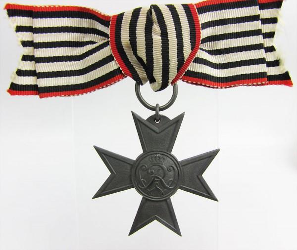 Verdienstkreuz Kriegshilfsdienst 1916 an Damenschleife