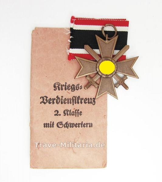 Kriegsverdienstkreuz 2. Klasse mit Schwertern in Tüte Hersteller Godet