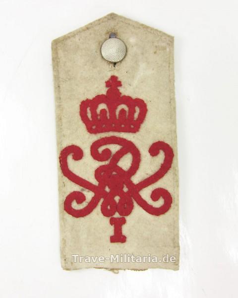 Schulterklappe Baden Grenadier Regiment Nr. 110 Weiß
