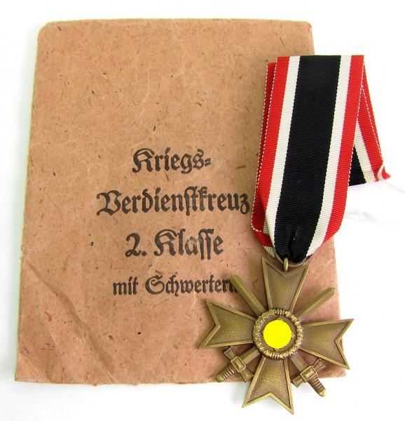 Kriegsverdienstkreuz 2. Klasse mit Schwertern in Tüte Alois Rettenmaier
