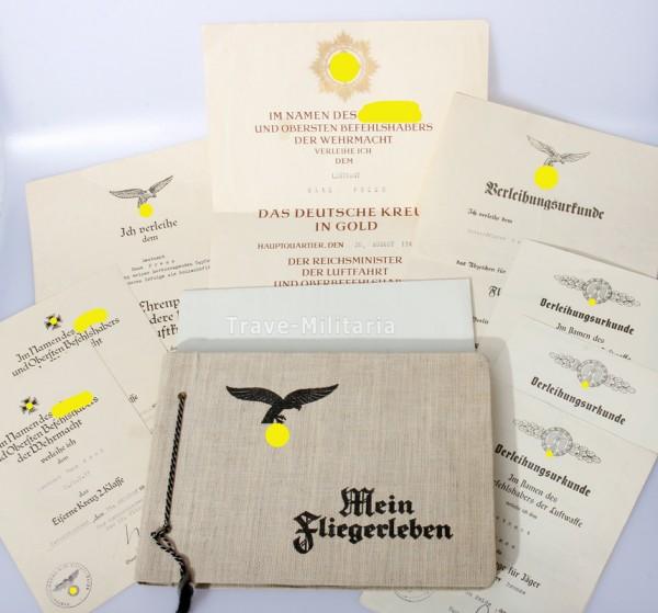 Urkundengruppe Deutsches Kreuz in Gold Schlachtgeschwader 77