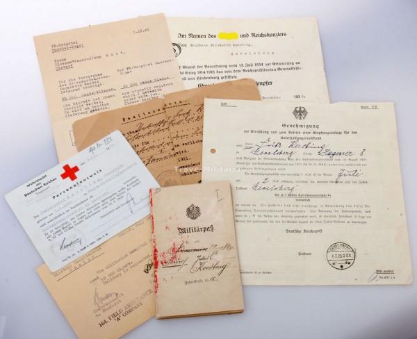 Papiernachlass Zahlmeister Kersting