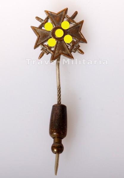 Miniatur Spanienkreuz in Silber mit Schwertern