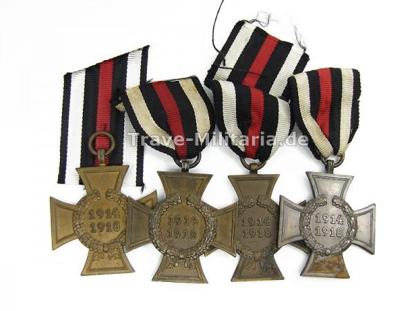 4 x Ehrenkreuz für Kriegsteilnehmer