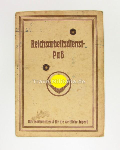 Reichsarbeitsdienst-Paß für weibliche Jugend