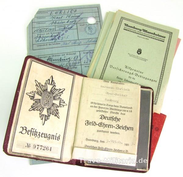 Urkundennachlass Hamburger Weltkriegsteilnehmers