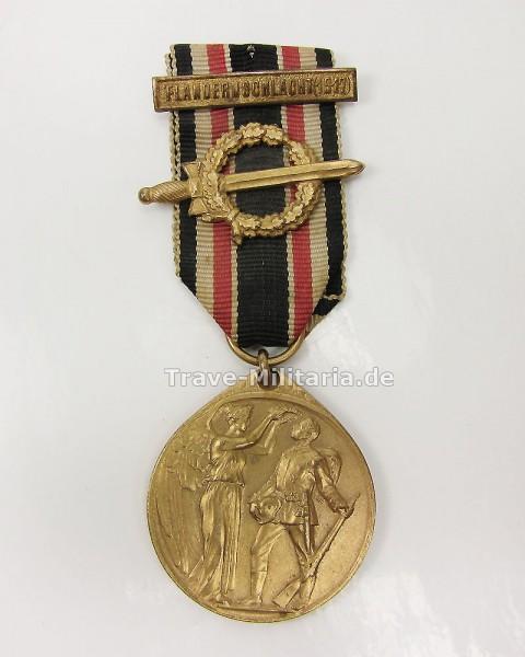 Deutsche Ehrendenkmünze mit Kampfabzeichen der Ehrenlegion mit Gefechtsspange