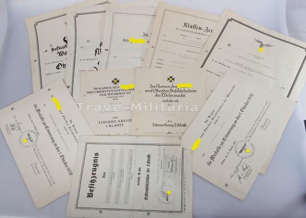 Urkunden Kampfgruppe Oberst Hartung in Arnheim