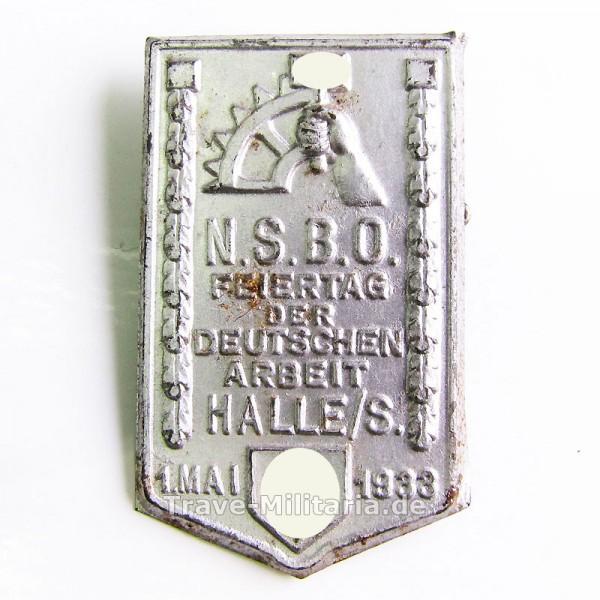 Kleinabzeichen NSBO Feiertag der deutschen Arbeit Halle/S 1. Mai 1933
