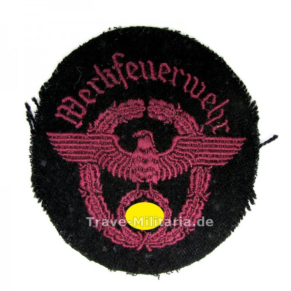 3. Reich Feuerwehr Ärmelabzeichen Werkfeuerwehr
