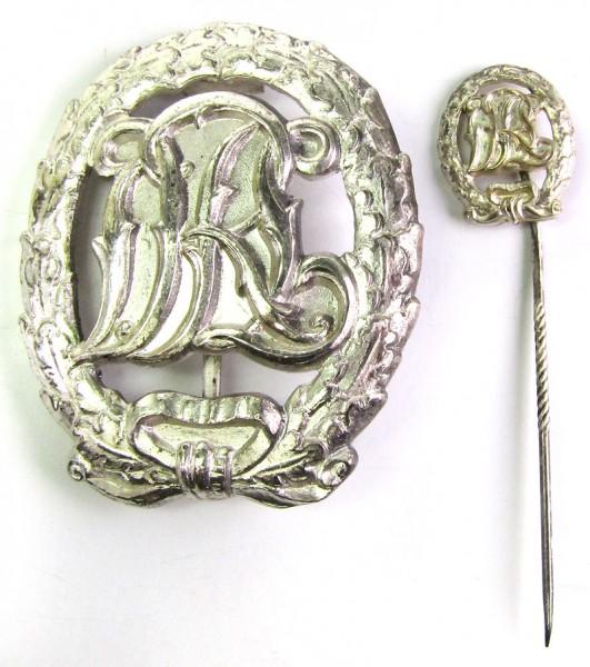 DRL Sportabzeichen Silber mit Miniatur