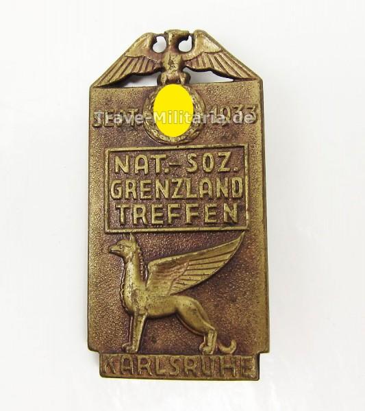 Kleinabzeichen Nat-Soz-Grenzland Treffen Karlsruhe Sept. 1933