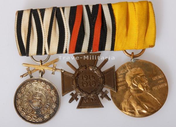 3er Ordensspange Hohenzollern Goldene Ehrenmedaille