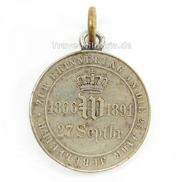 Medaille zur Erinnerung an die 25 Jähr.Jubelfeier 1. Hanseatisches Inf.Regt. No. 75