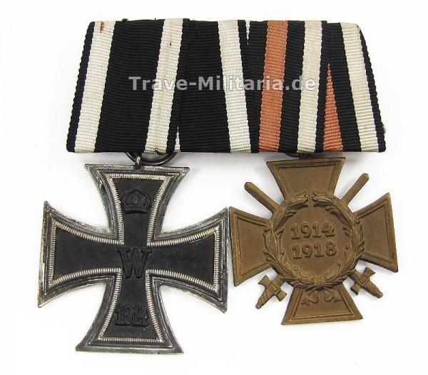 2er Ordenspange Eisernes Kreuz 2. Klasse und Frontkämpferehrenkreuz
