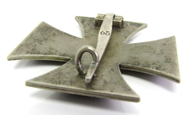 Eisernes Kreuz 1. Klasse Hersteller 65 | Archiv | Trave Militaria - Orden  und Ehrenzeichen