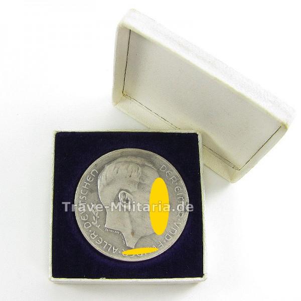 Silbermedaille 1938 im Etui von Hanisch