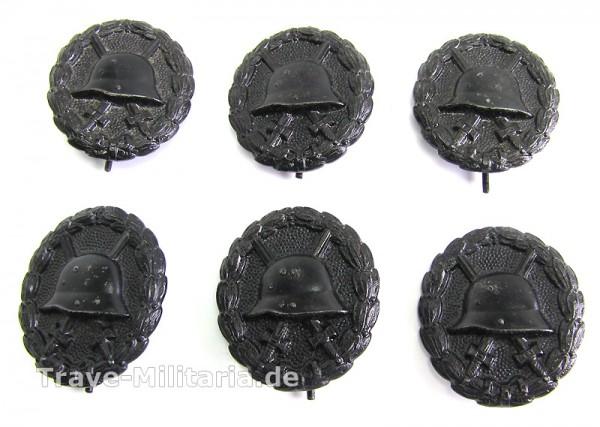 6 Verwundetenabzeichen in Schwarz von 1918