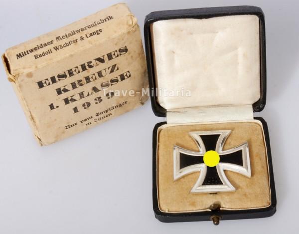 Eisernes Kreuz 1. Klasse 1939 im Etui mit Umkarton