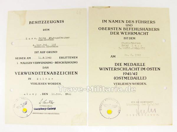 2 Urkunden Aufklärungs-Abt. 152