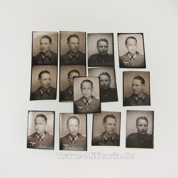 13 Passfotos eines Soldaten
