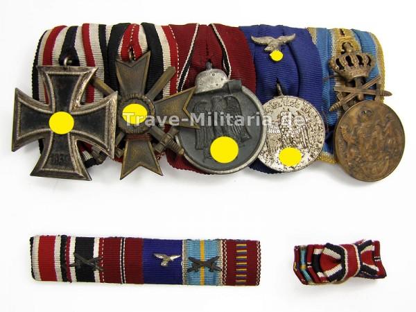 5er Ordenspange eines Luftwaffensoldaten mit Minis
