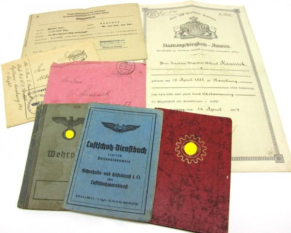Papier-Nachlass eines Wachtmeisters des Sicherheits-und Hilfsdienstes