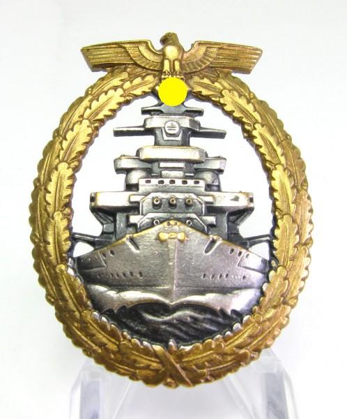 Flottenkriegsabzeichen der Kriegsmarine Schwerin-Berlin Buntmetall