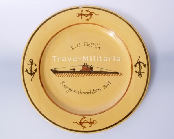 Teller 2. U-Flotille - Kriegsweihnachten 1941