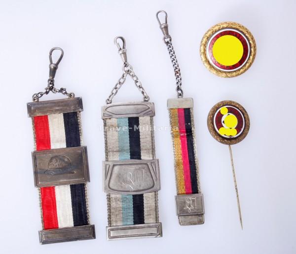 Paar NSDAP Parteiabzeichen in Gold - Nr. 16873 Robert Noll