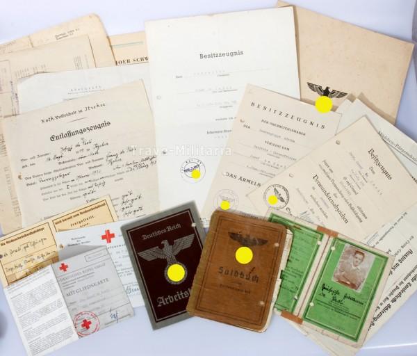 Papiere Afrikakorps Pz. Gren. Rgt.200, I.R.391, Pz. Abt. z.b.V.66
