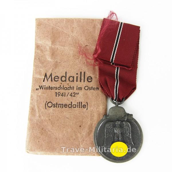 Medaille Winterschlacht im Osten mit Verleihtüte Hersteller Souval