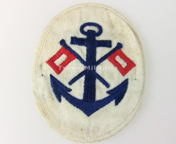 Kriegsmarine Ärmelabzeichen Signalmaat für weißes Hemd