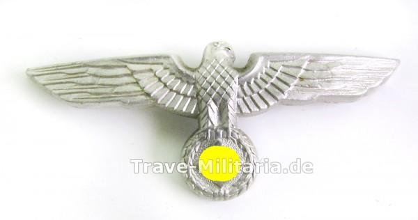 Mützenadler für Heeresmütze - Alu