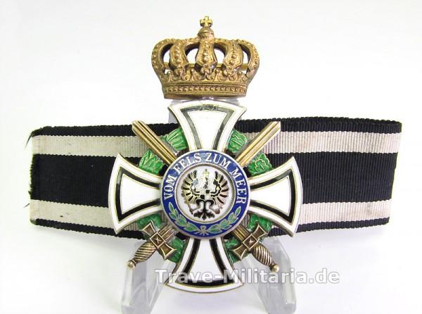 Hausorden der Hohenzollern Kreuz der Ritter mit Schwertern am Band - 938 FR Friedländer