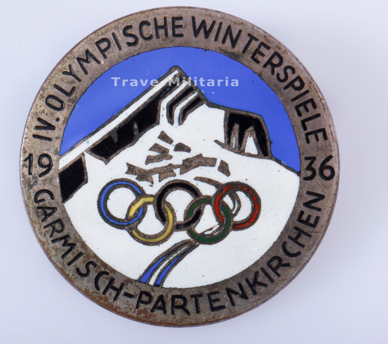 Arbeitsblätter Olympische Winterspiele : Besucherabzeichen iv olympische winterspiele