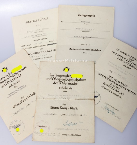 Urkundengruppe Stötzel s.Gr.W.Zug/ Gr.Rgt.552