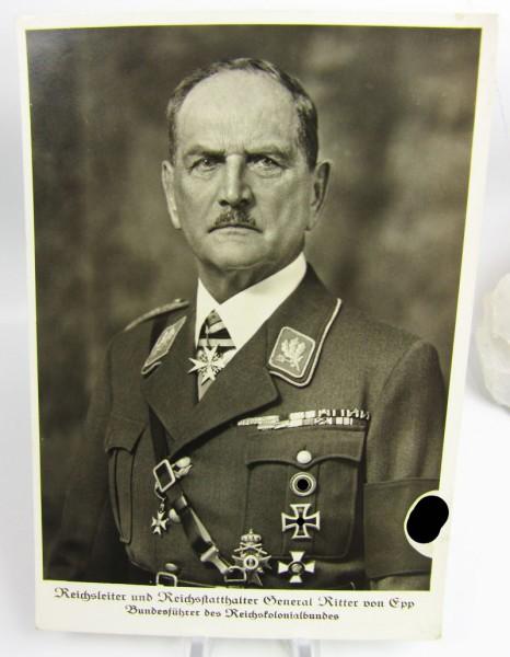 Reichsleiter und Reichsstatthalter General Ritter von Epp, Postkarte